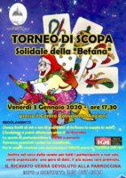 VENERDI 3 GENNAIO 2020 – TORNEO DI SCOPA